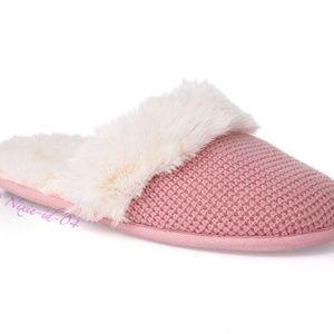 Victoria's Secret Pink Waffle Slippers Pink M NIP